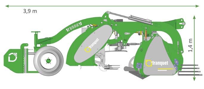 Effeuilleuse frontale à betteraves - X-Beet Franquet - Vue 3D
